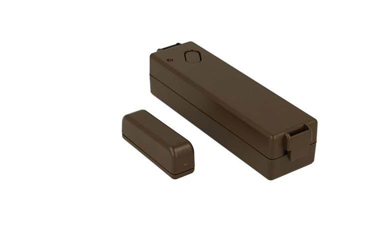 Contatto Magnetico Wireless Colore Marrone GT13.9.70M Per Antifurto GT Casa Alarm GT13.9 Rilevatore Contro L'Apertura di Porte Finestre Persiane - KIT