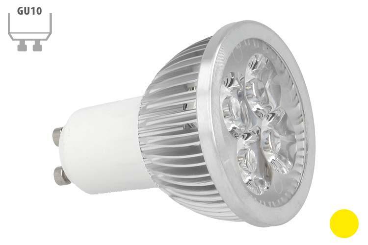 Faretto Lampada LED GU10 4X1W Giallo Yellow 220V - PZ