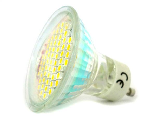 Lampada Faretto LED GU10 4W = 40W 220V Bianco Freddo 60 SMD 3528 - PZ