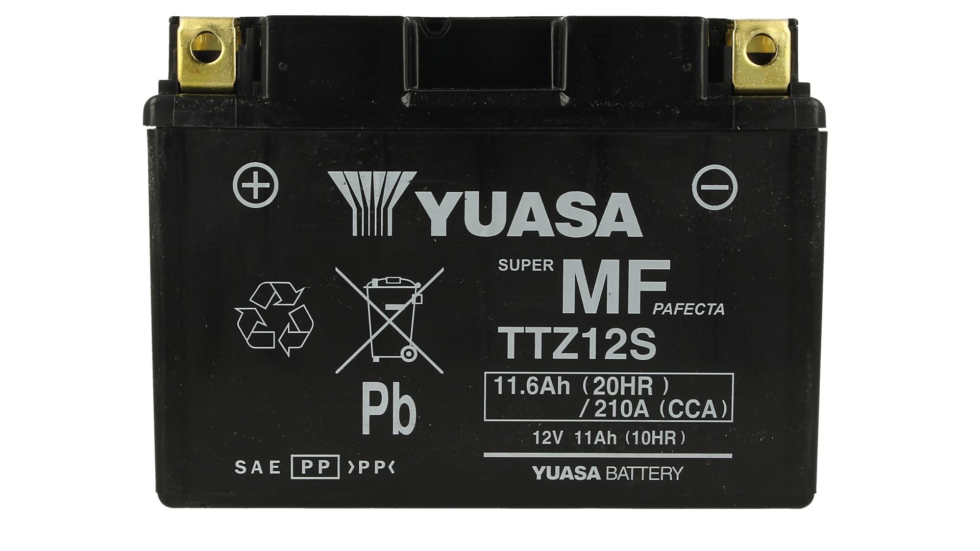 Batteria Moto YUASA TTZ12S Con Acido 12V 11,6Ah 210A - PZ