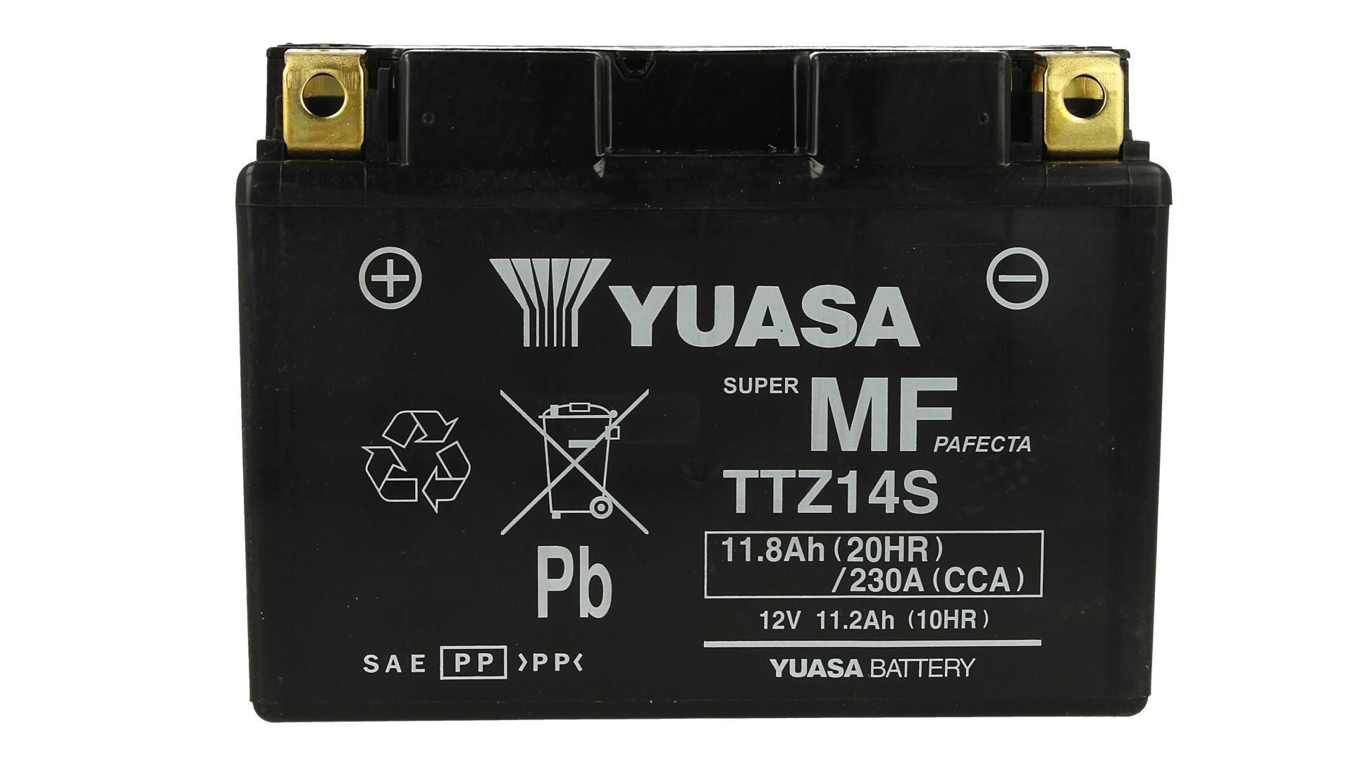 Batteria Moto YUASA TTZ14S Con Acido 12V 11,8Ah 230A - PZ