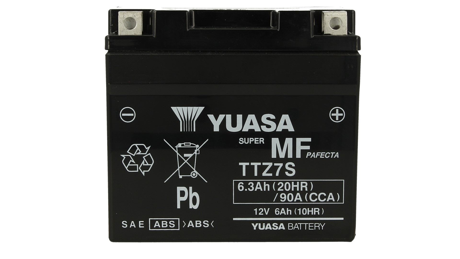 Batteria Moto YUASA TTZ7S Precaricata Sigillata 12V 6,3Ah 90A - PZ