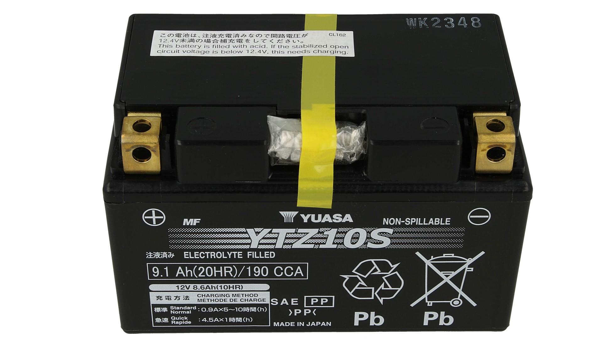 Batteria Moto YUASA YTZ10S Precaricata Sigillata 12V 9,1Ah 190A - PZ