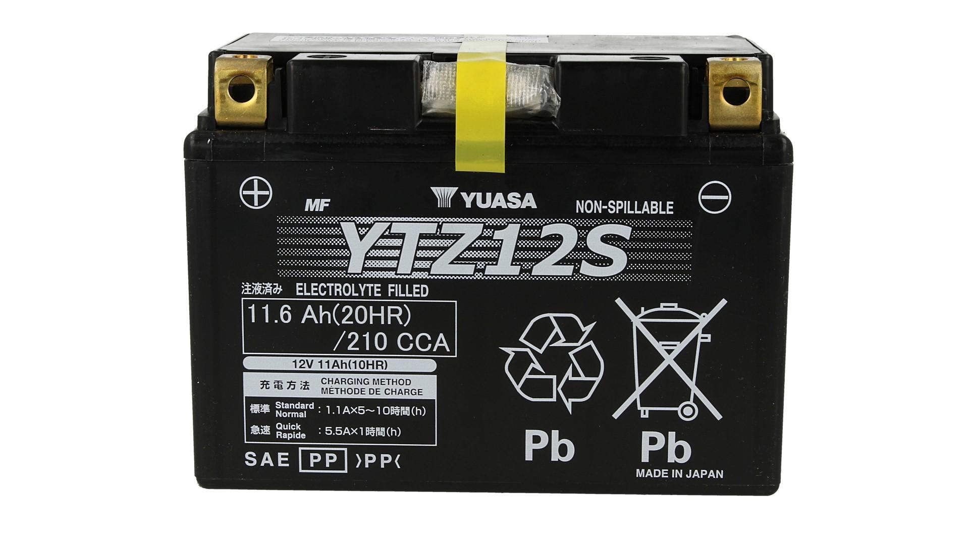 Batteria Moto YUASA YTZ12S Precaricata Sigillata 12V 11,6Ah 210A - PZ