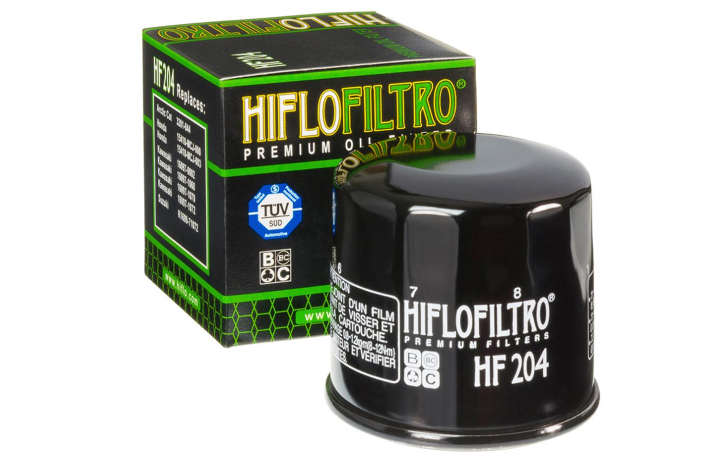 HIFLO HF204 Filtro Olio Moto Honda Hornet 600 900 Kawasaki ZX-6R Yamaha YZF FZ6 600 Arctic Cat quad - PZ