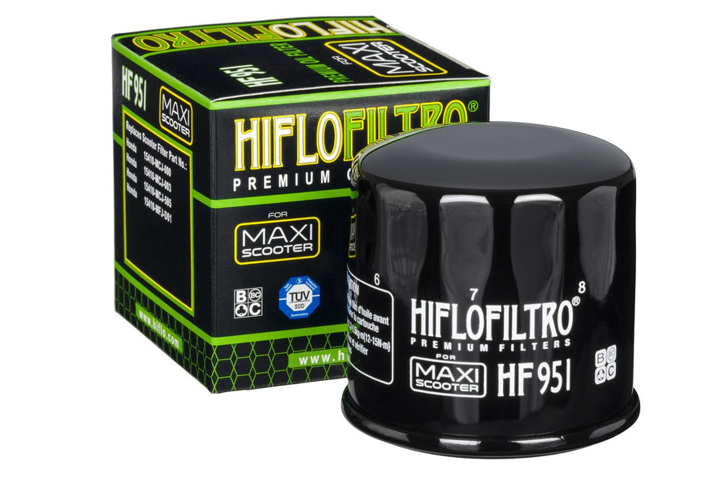 HIFLO HF951 Filtro Olio Moto Honda SH 300i FJS Silverwing 400 600 - PZ