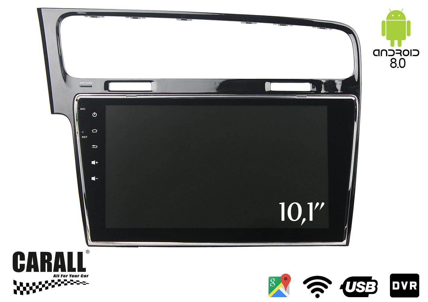 Autoradio Android 8,0 VW Golf 7 GPS DVD USB SD WI-FI Bluetooth Navigatore - KIT