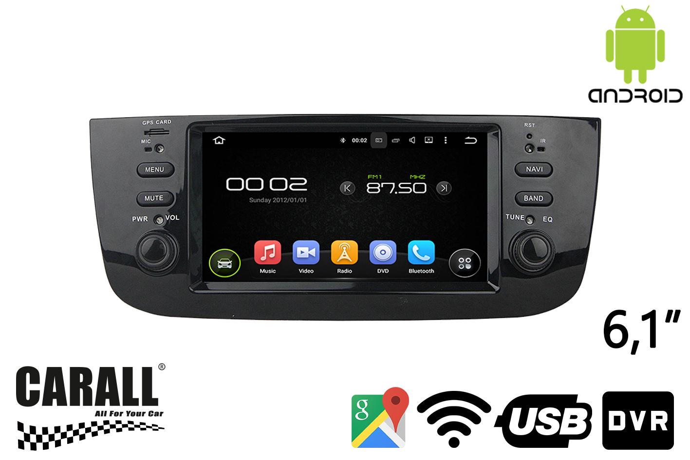 Autoradio Android 8,0 Fiat Linea 2015 GPS DVD USB SD WI-FI Bluetooth Navigatore - KIT
