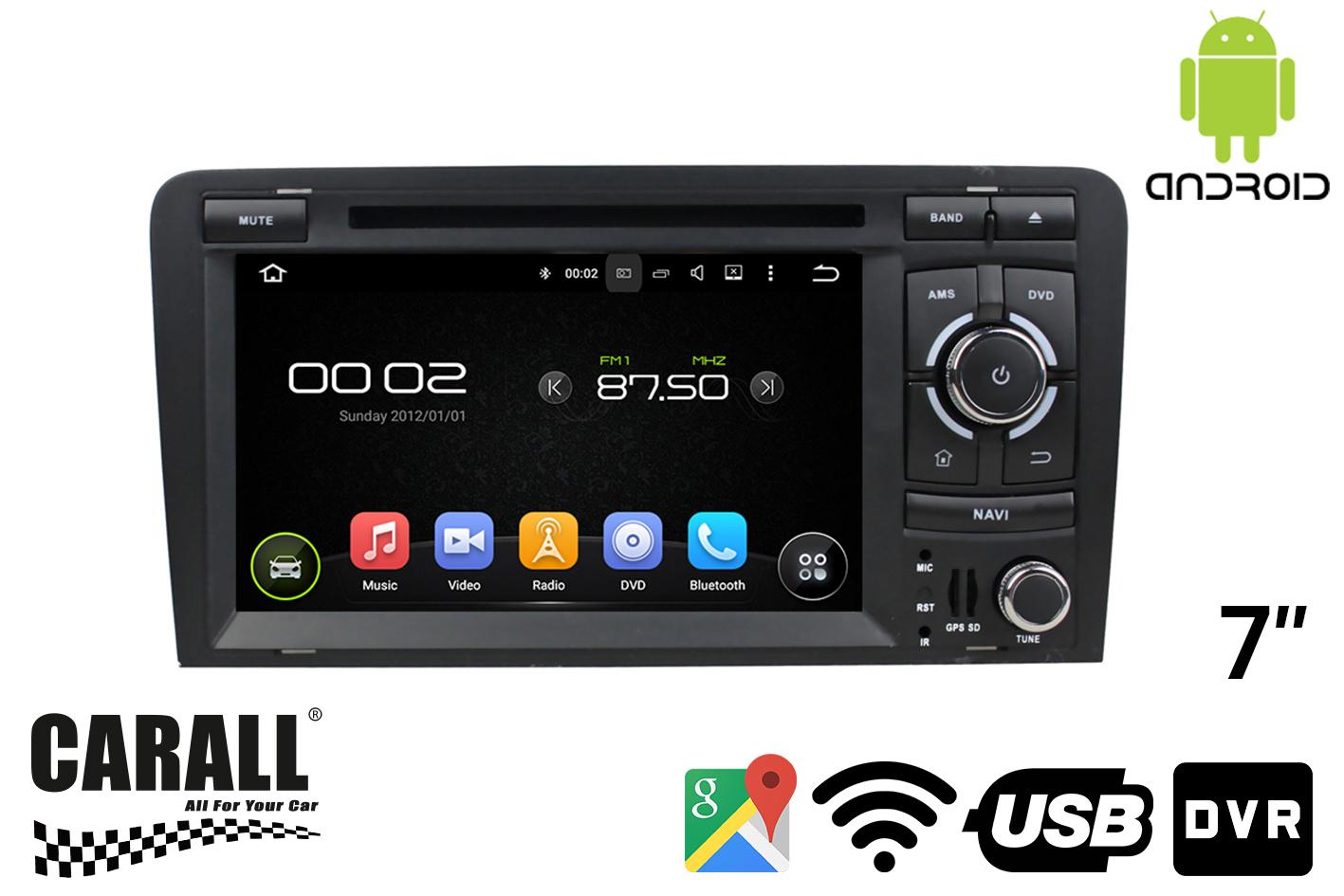 Autoradio Android 8,0 Audi A3 GPS DVD USB SD WI-FI Bluetooth Navigatore - KIT
