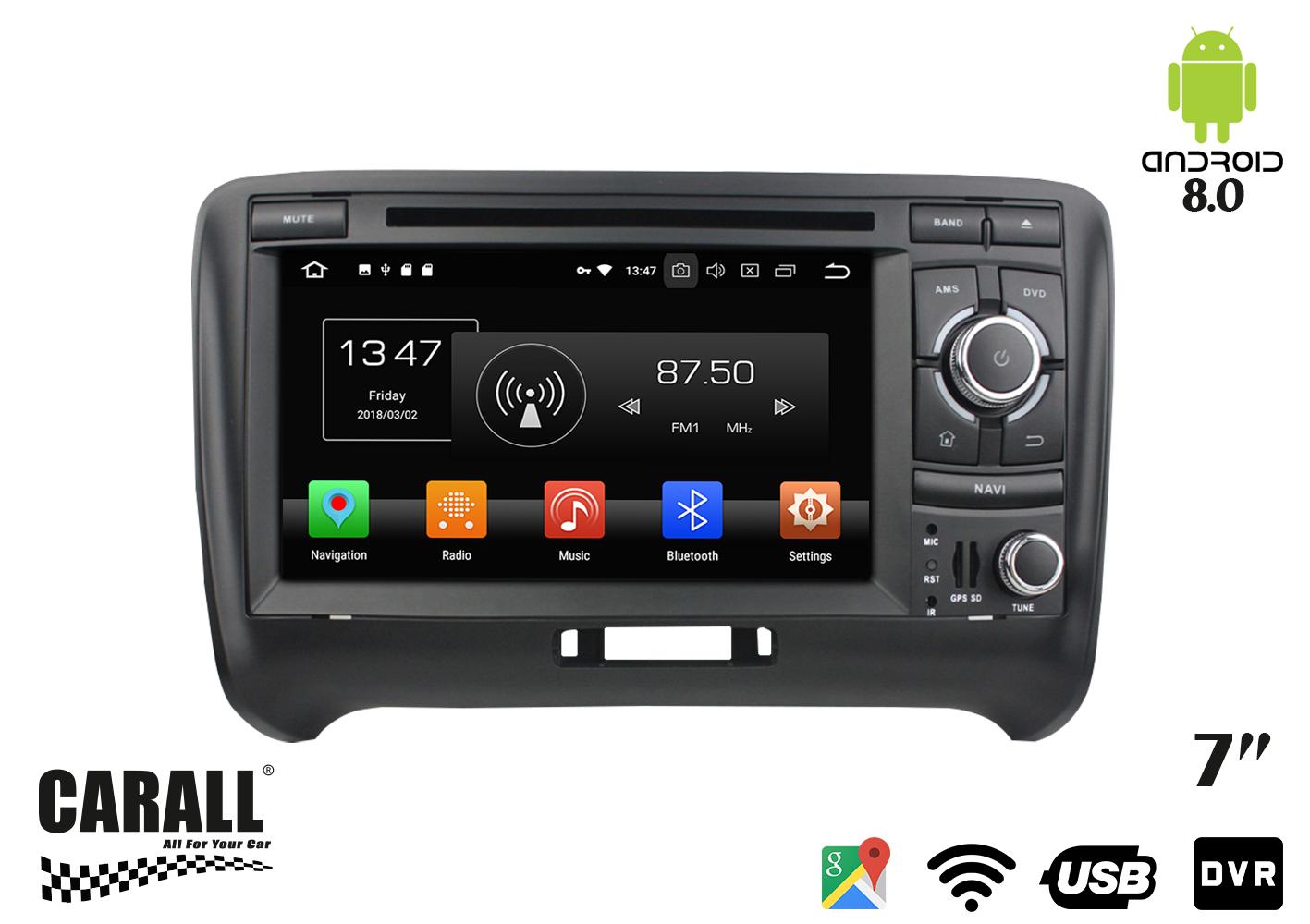 Autoradio Android 8,0 Audi TT GPS DVD USB SD WI-FI Bluetooth Navigatore - KIT