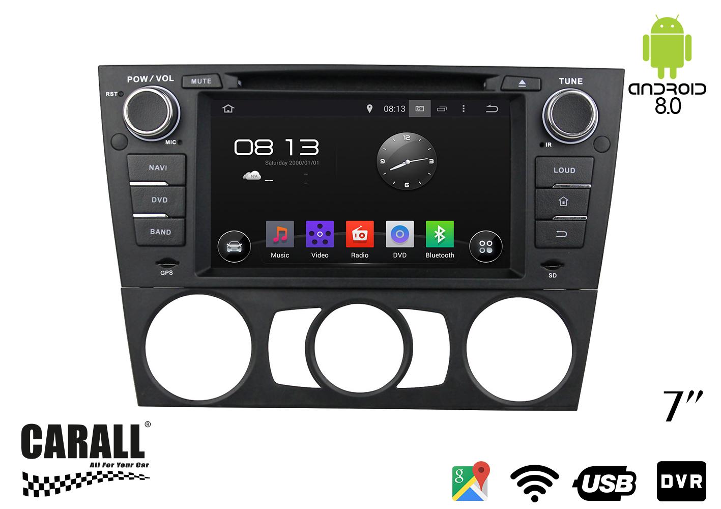 Autoradio Android 8,0 BMW E90 GPS DVD USB SD WI-FI Bluetooth Navigatore - KIT
