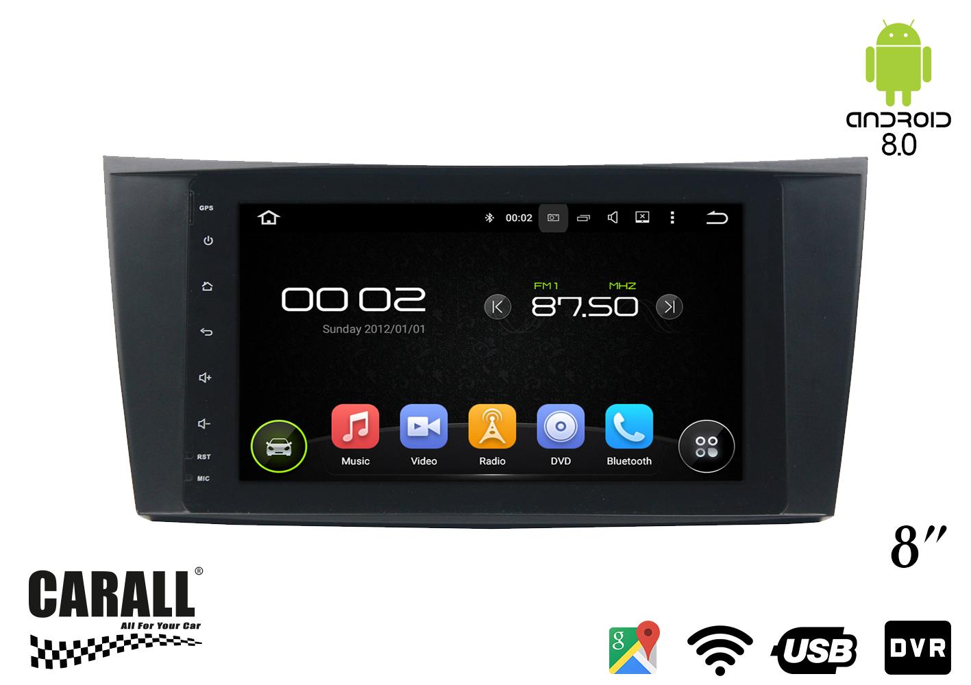 Autoradio Android 8,0 Mercedes Benz W211 GPS DVD USB SD WI-FI Bluetooth Navigatore - KIT