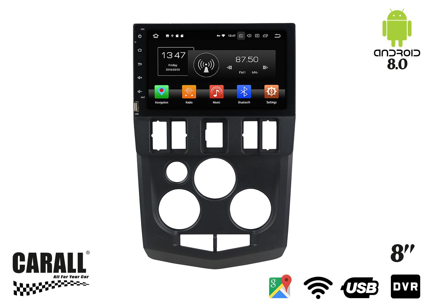 Autoradio Android 8,0 Dacia Logan L90 GPS DVD USB SD WI-FI Bluetooth Navigatore - KIT