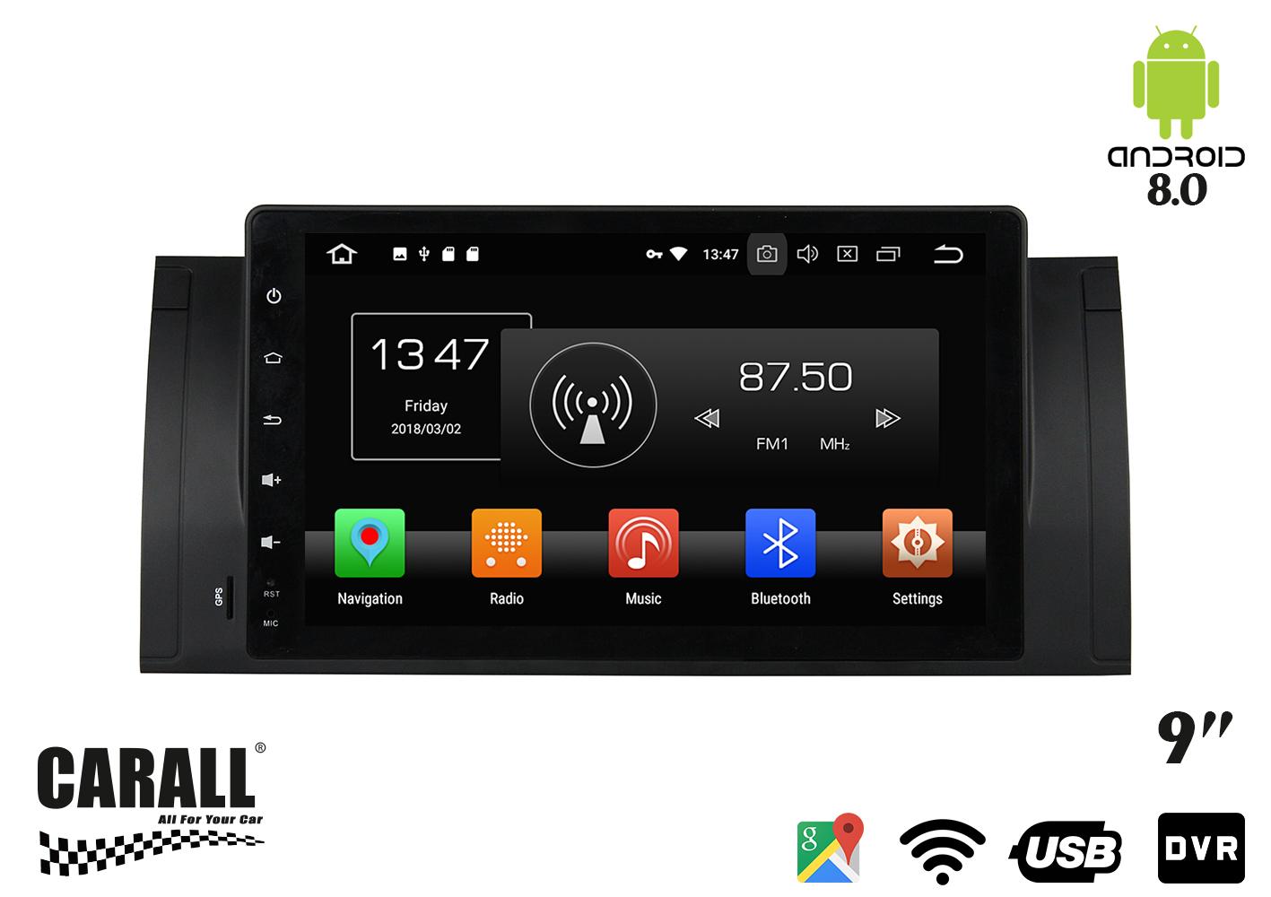 Autoradio Android 8,0 BMW E39 GPS DVD USB SD WI-FI Bluetooth Navigatore - KIT