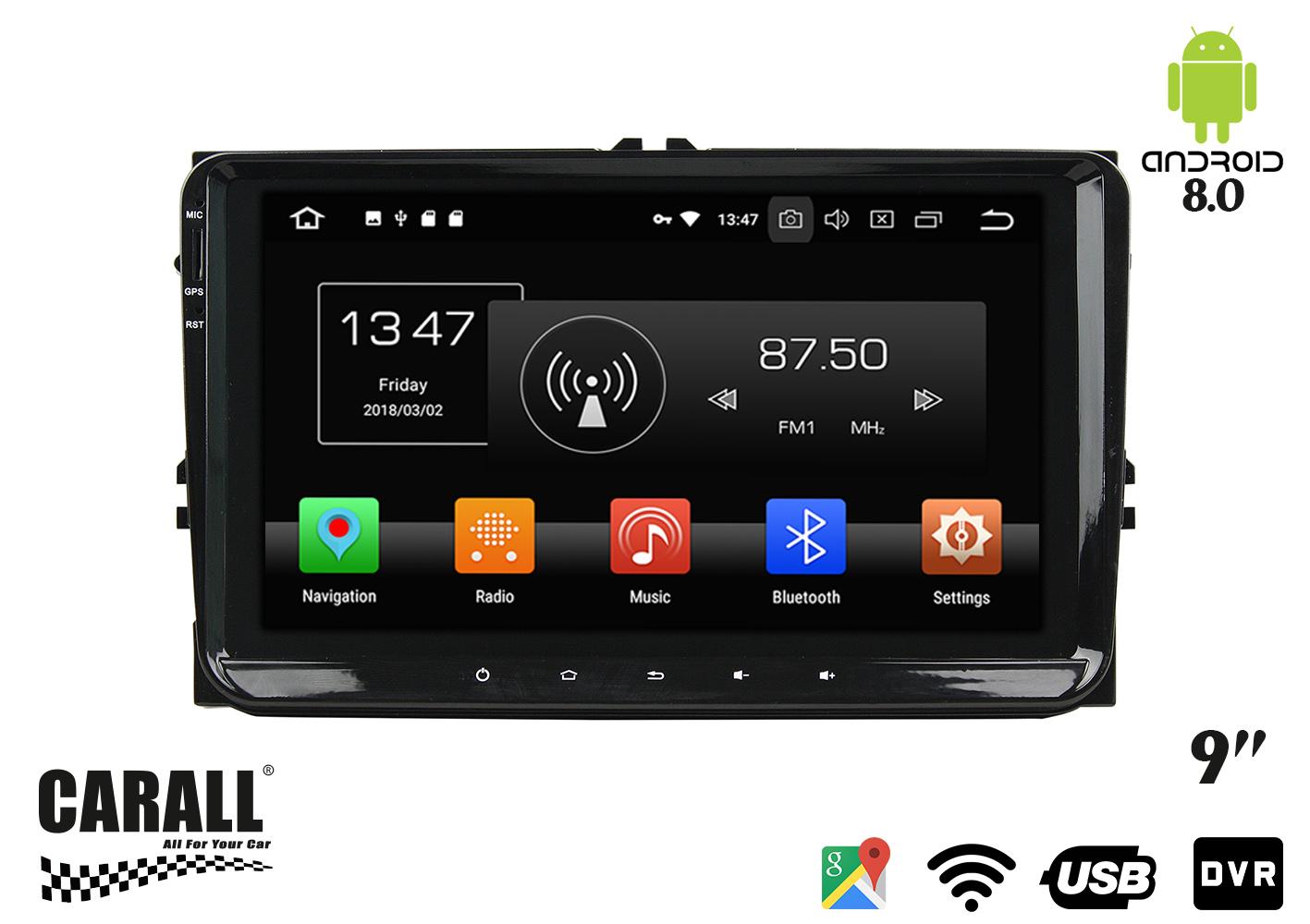 Autoradio Android 8,0 VW Passat GPS DVD USB SD WI-FI Bluetooth Navigatore - KIT