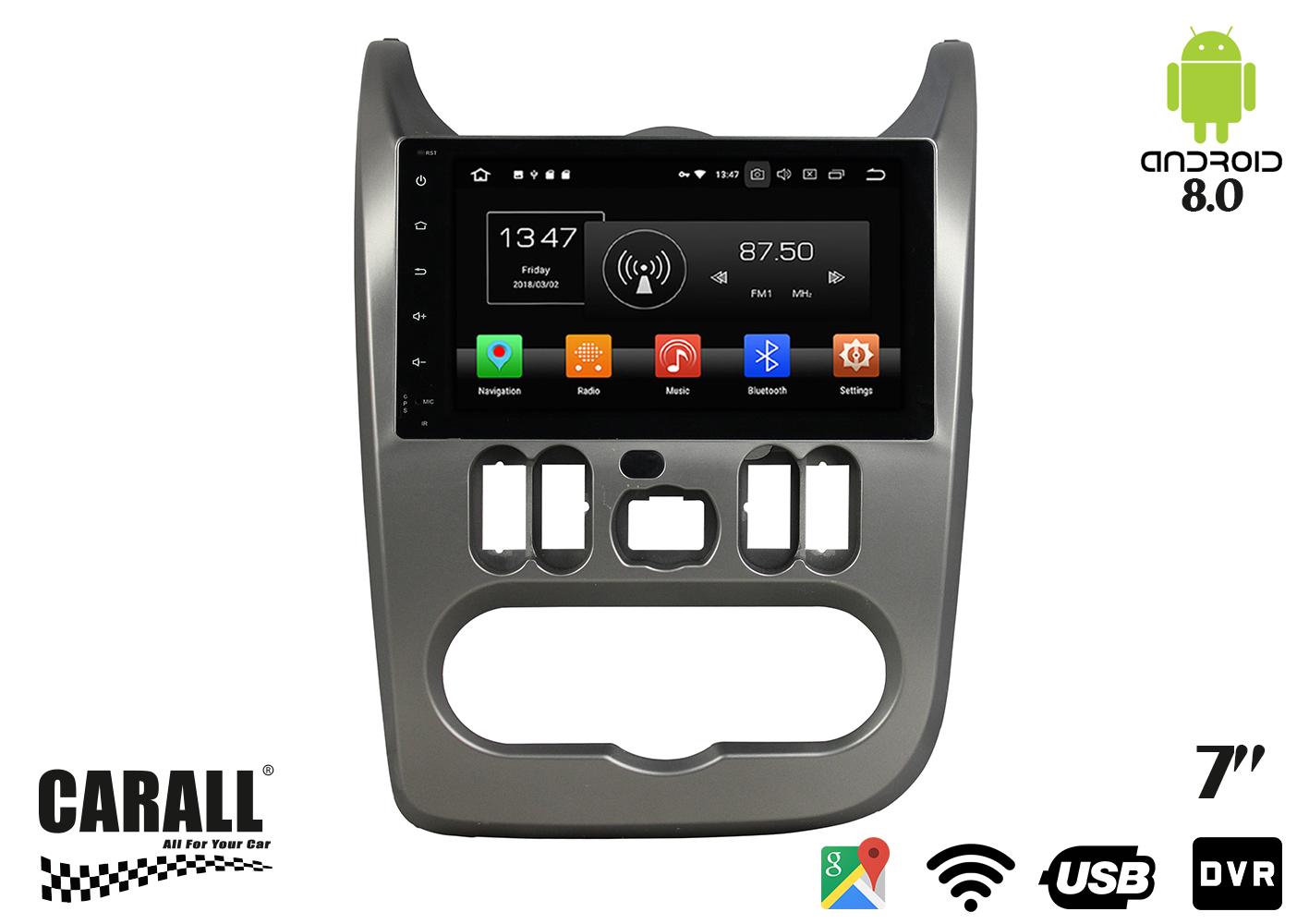 Autoradio Android 8,0 Dacia Sandero GPS DVD USB SD WI-FI Bluetooth Navigatore - KIT