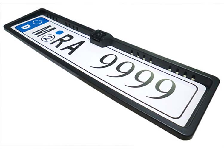 Retrocamera Telecamera Portatarga Standard Targa EU Stagna 12V Per Retromarcia SB-C26 - KIT