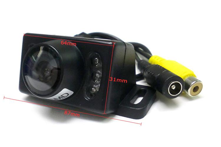 Telecamera Portatarga Retromarcia Con 6 Led Infrarosso Impermeabile IP67 - KIT