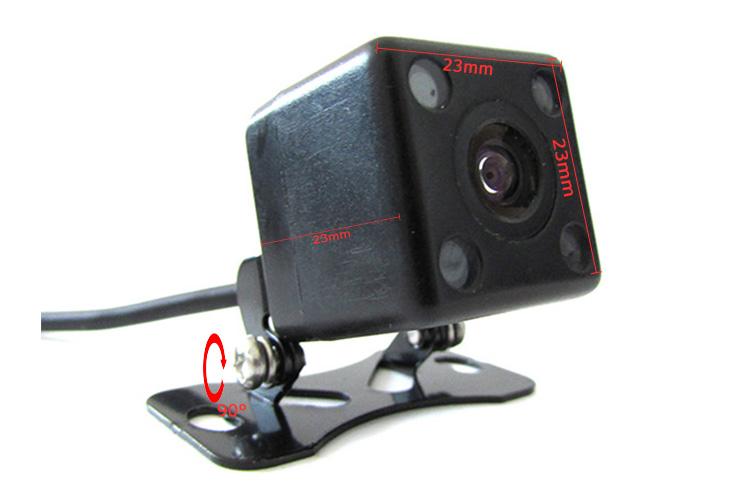 Telecamera Retromarcia Portatarga Infrarossa Visione Notturna 4 Led 12V Per Auto - KIT
