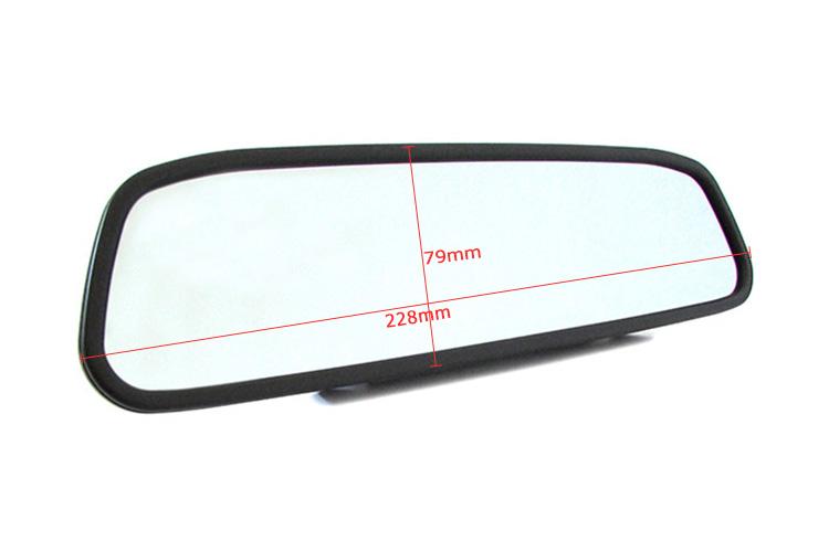Monitor Specchio Retrovisore TFT LCD 4,3 A Colori Doppio Ingresso Video Per Telecamera Retromarcia - KIT