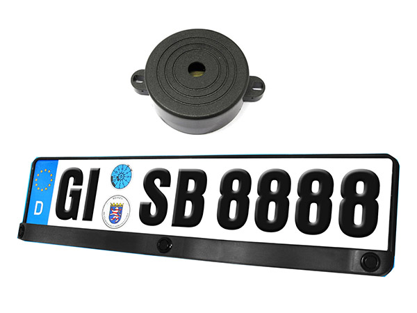 Kit 3 Sensori Di Parcheggio Portatarga Standard EU Italiano Cicalino Acustico 12V SB-E16 Carall - KIT