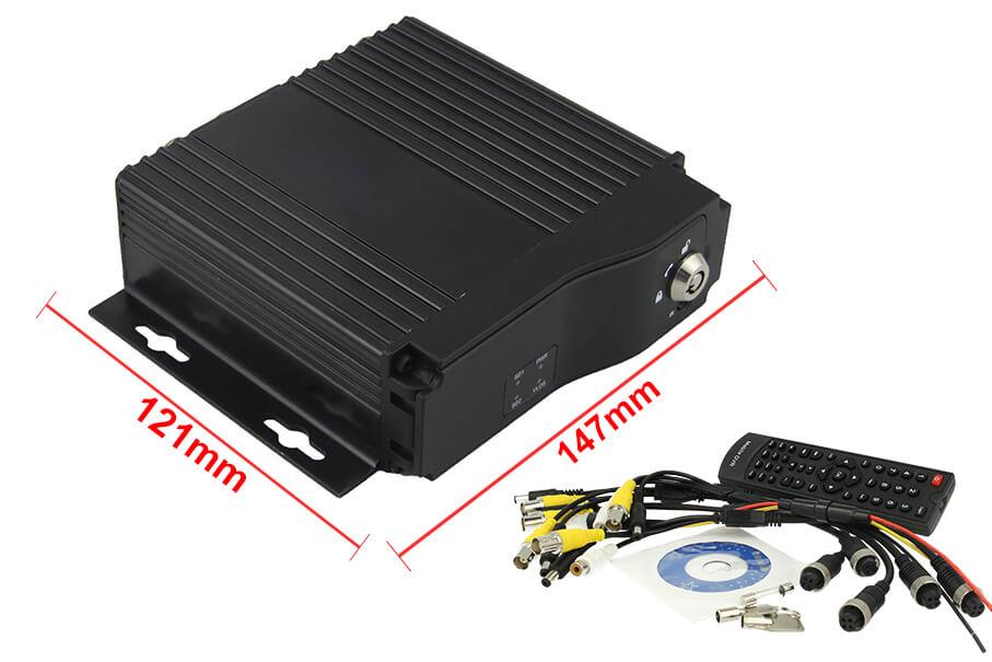 Mobile DVR 4 Canali Videoregistratore 12V 24V Per Auto Camion Camper Scatola Nera Sorveglianza Con Chiave - KIT