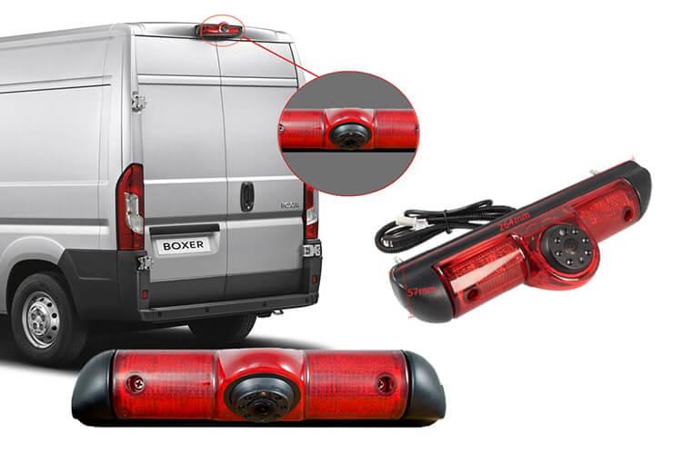 Telecamera Retromarcia Specifica Per Furgone Fiat Ducato Peugeot Boxer Citroen Jumper Con Luci Led Terzo Stop Posteriore - KIT