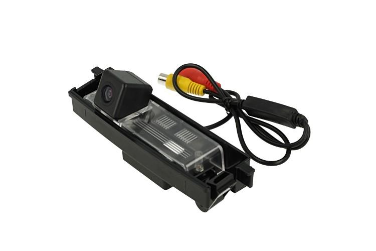 Telecamera Posteriore Per Luce Targa Specifica Toyota RAV4 2009-2012 Linea Guida Effetto Specchio Selezionabile - KIT