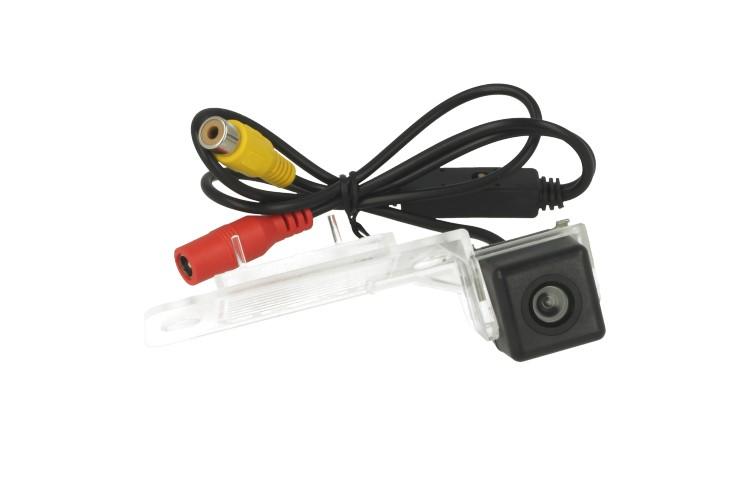 Telecamera Posteriore Per Luce Targa Specifica VW Touareg Tiguan Passat Polo Sedan Linea Guida Effetto Specchio Selezionabile - KIT