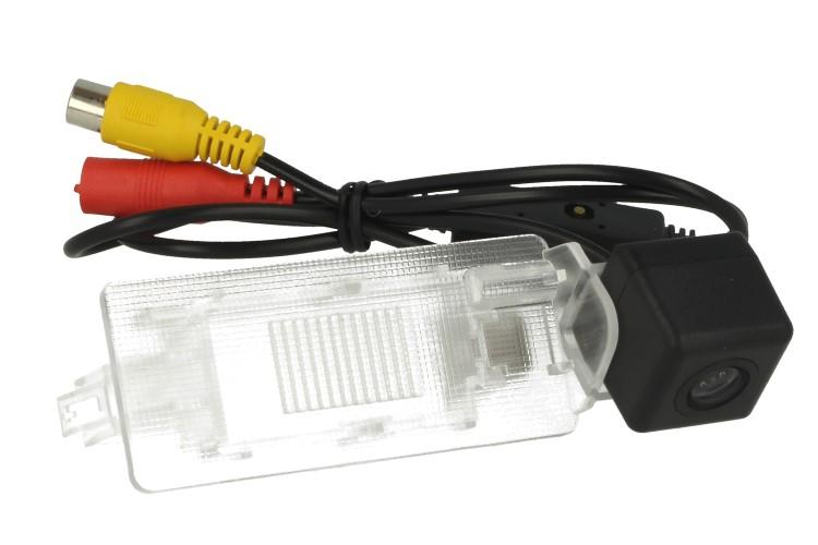 Telecamera Posteriore Per Luce Targa Specifica VW Passat Touareg Lavida 2011-2013 Linea Guida Effetto Specchio Selezionabile - KIT