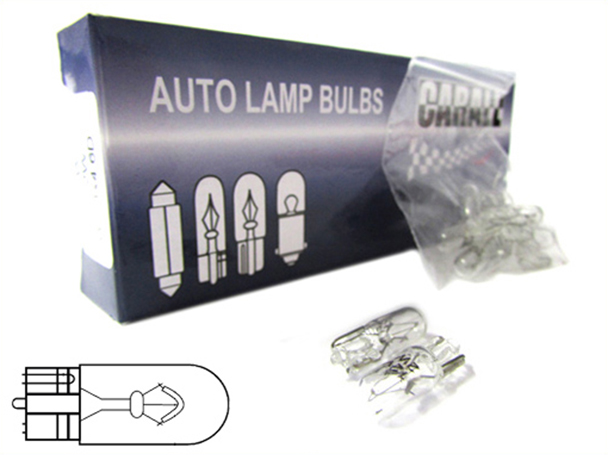 10 Pezzi Lampada Alogena T10 W2W 12V 2W Tutto Vetro W2,1x9,5d - Confezione