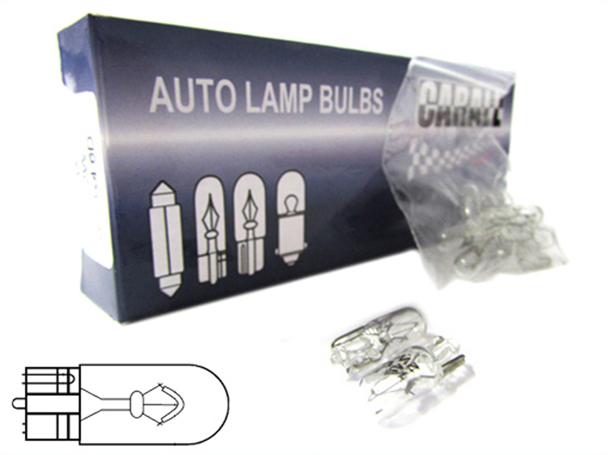 10 Pezzi Lampada Alogena T10 W3W 12V 3W Tutto Vetro W2,1x9,5d - Confezione