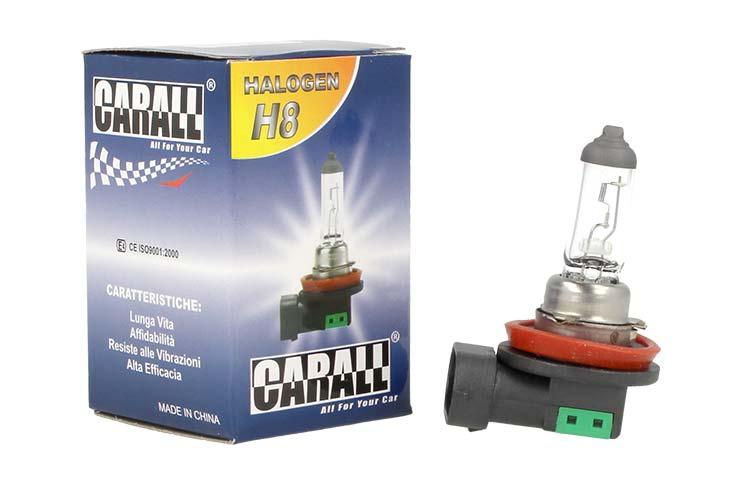 Lampada Alogena Auto H8 12V 35W PGJ19-1 Trasparente Marca Carall - PZ