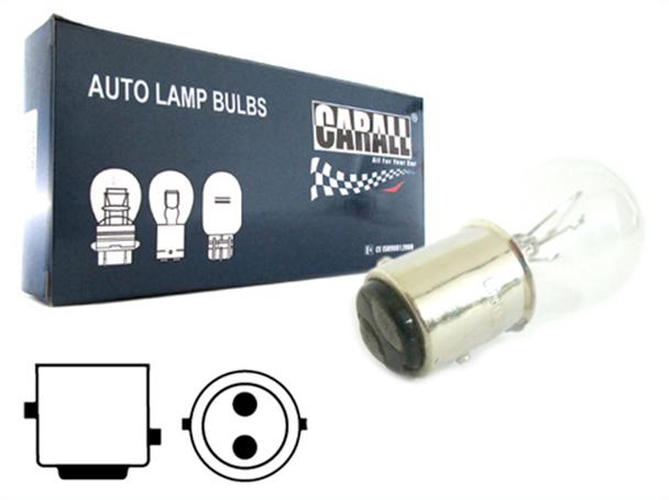 10 Pezzi Lampada Alogena S25 P21/5W BAY15D 12V 21/5W Doppio Filamento - Confezione