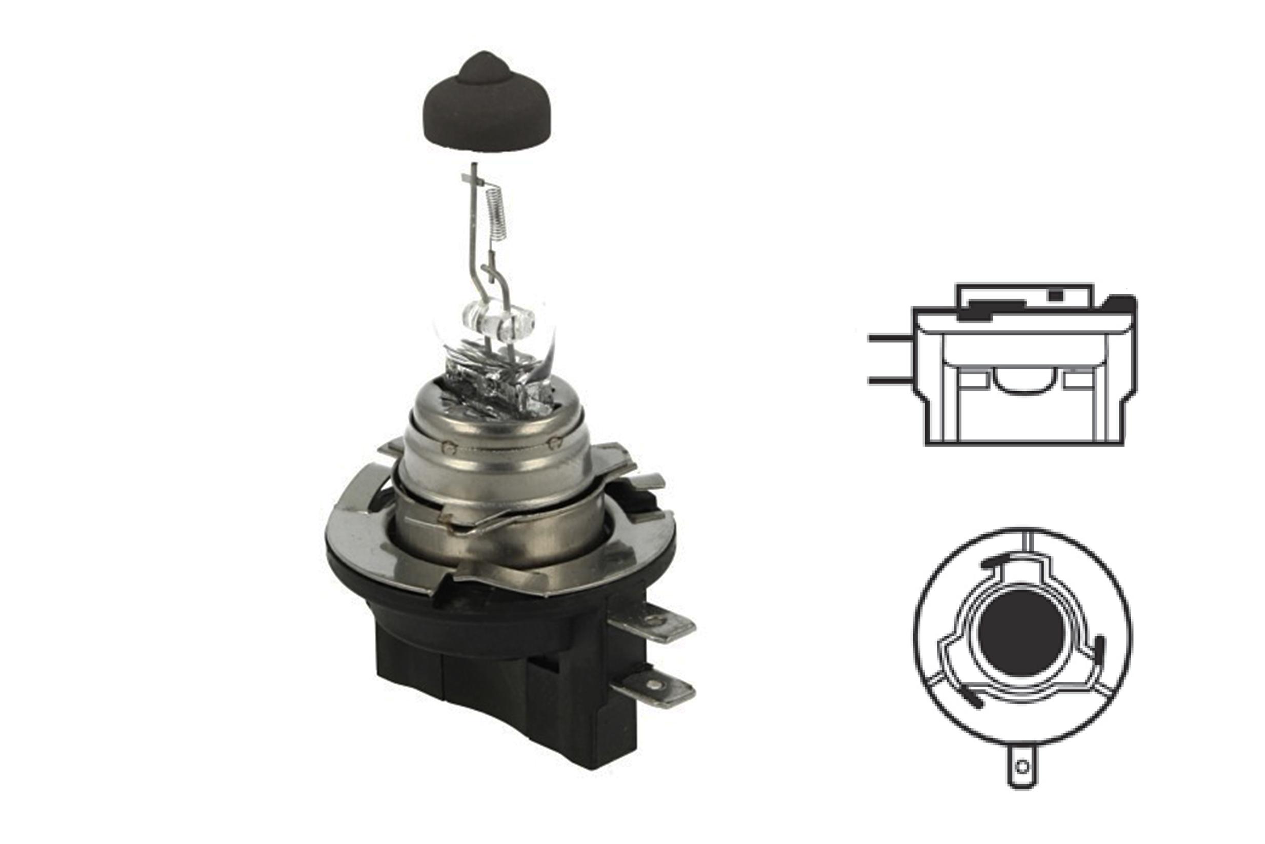 Lampada Alogena H8B 12V 35W PGJY19-1 Clear Compatibile Osram OA64242 - PZ