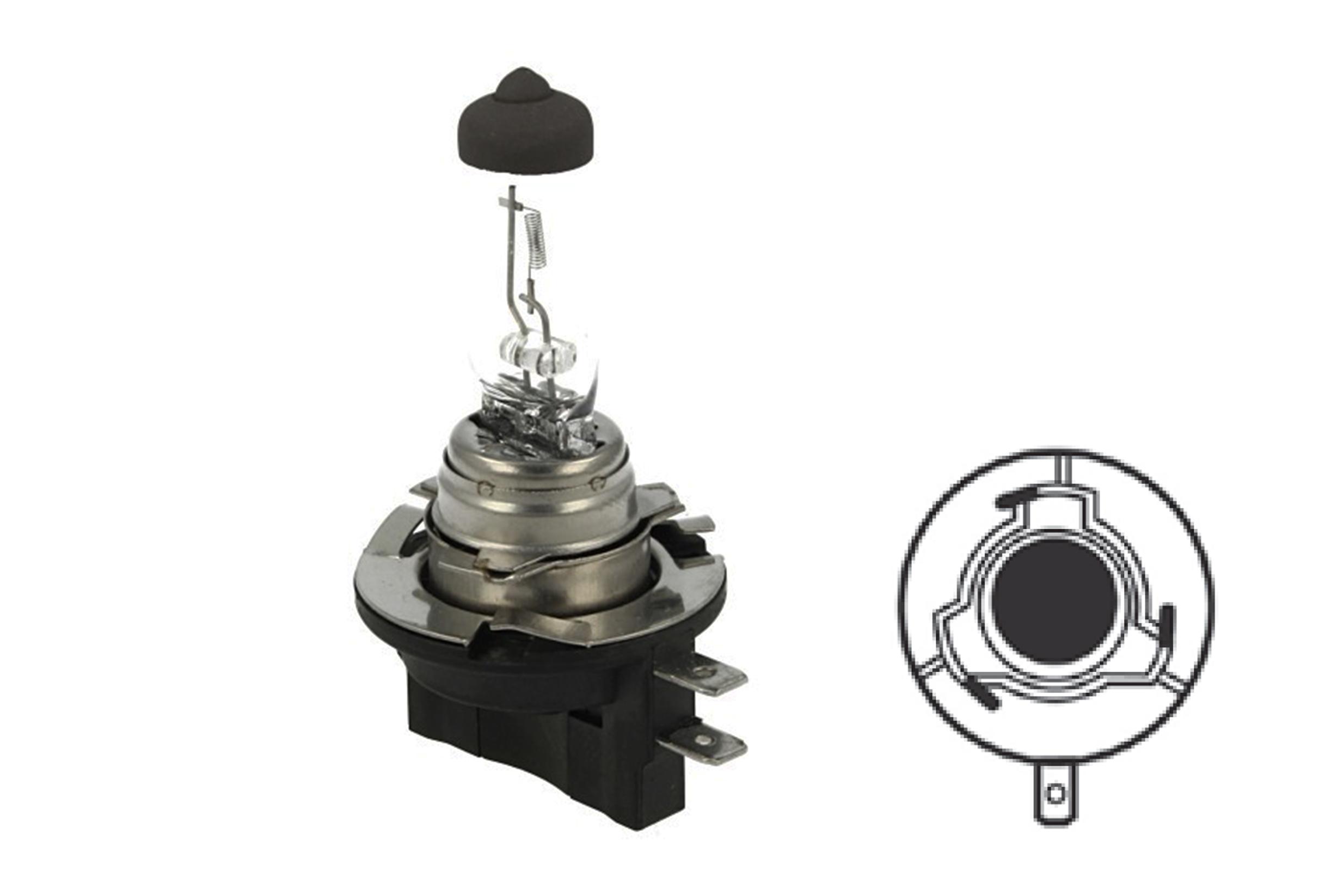 Lampada Alogena H11B 12V 55W PGJY19-2 Clear Compatibile Osram OA6424 - PZ
