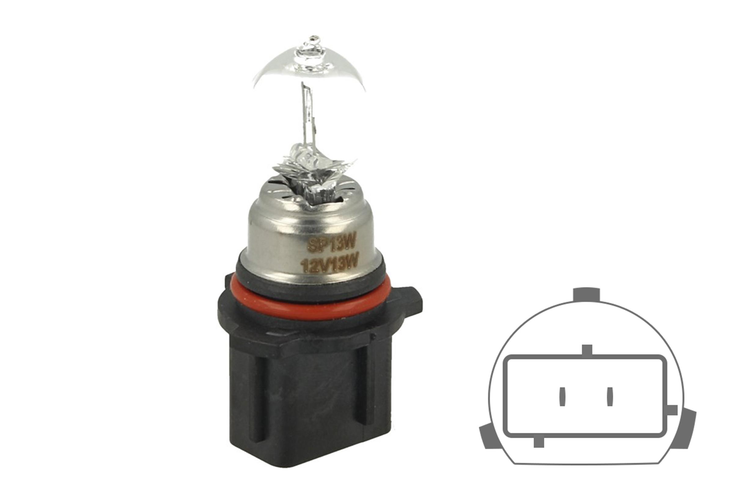 Lampada Alogena P13W 12V 13W PG18.5d-1 Clear Compatibile Philips 12277C1 - PZ