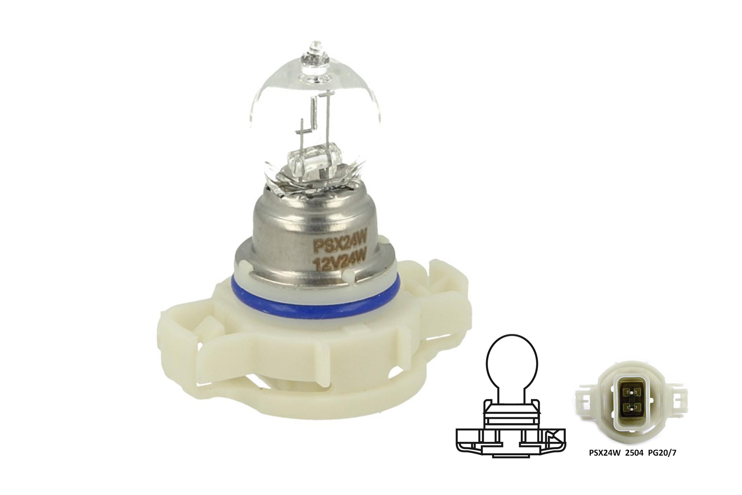 Lampada Alogena PSX24W 12V 24W PG20-7 Clear Compatibile Philips 12276 C1 - PZ