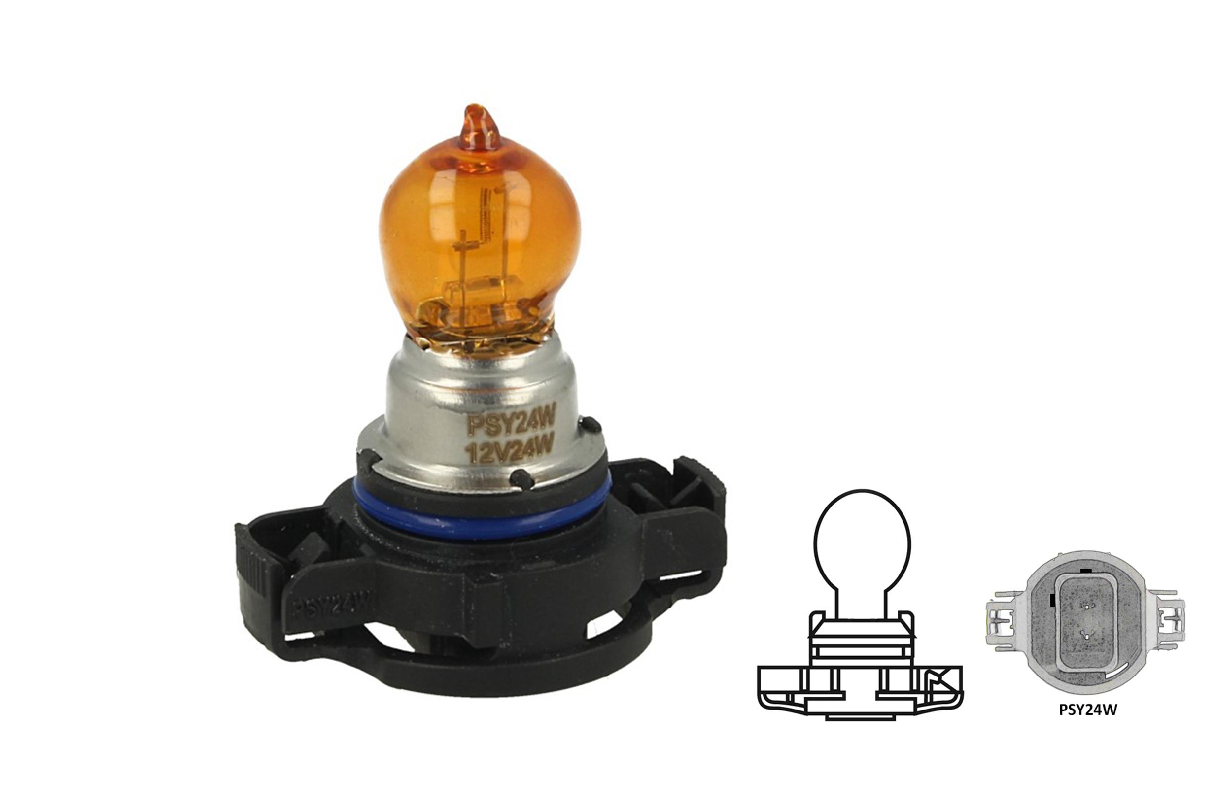 Lampada Alogena PSY24W 12V 24W PG20-4 Amber Arancione Compatibile Philips 12180SV C1 - PZ