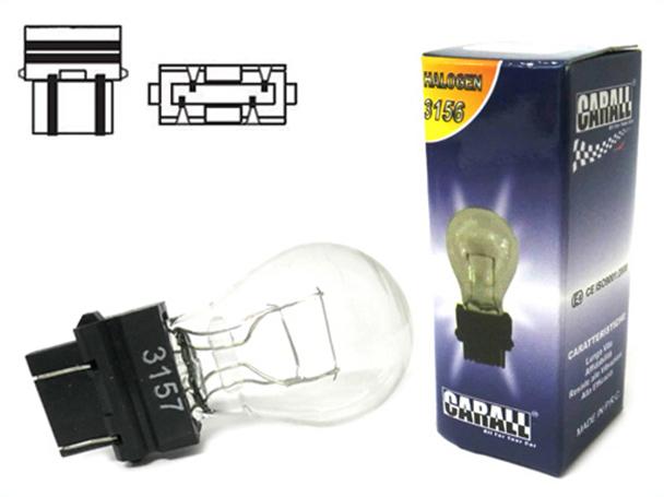 Lampada Alogena 3157 Clear T25 P27/7W 12V 27/7W W2.5x16q Doppio Filamento - PZ