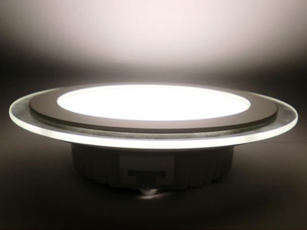 Faretto Led Da Incasso Rotondo 12W Diametro 160mm Bianco Caldo Con Vetro Disegno Moderno SKU-4744 - PZ