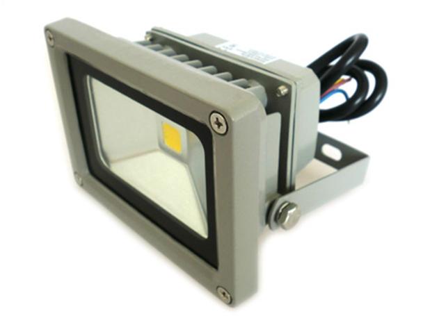 Faro Proiettore A Led Esterno IP65 220V 10W = 100W Bianco Puro 5600K - KIT