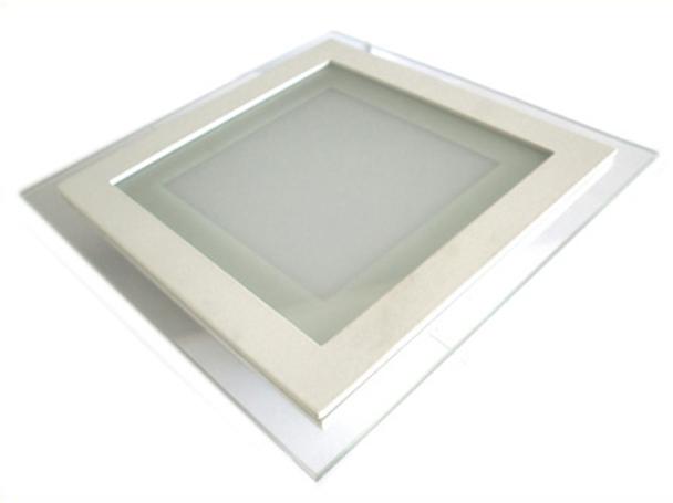 Faretto Led Da Incasso Quadrato 12W Bianco Caldo Con Vetro Disegno Moderno Illuminazione Bagno Soggiorno SKU-4742 - PZ