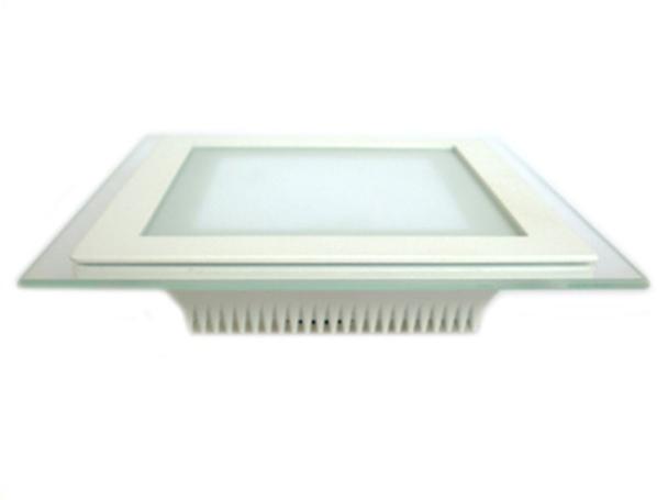 Faretto Led Da Incasso Quadrato 12W Bianco Freddo Con Vetro Stile Moderno Illuminazione Bagno Soggiorno SKU-4741 - PZ