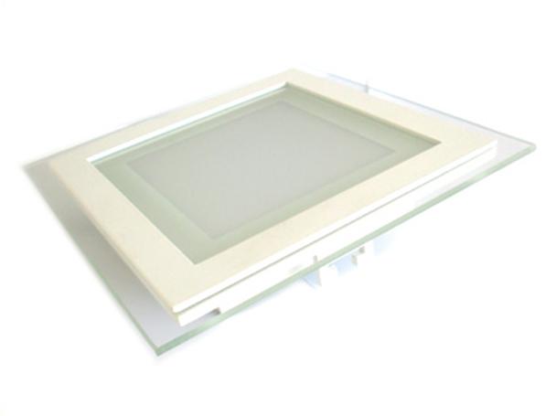Faretto Led Da Incasso Quadrato 12W Bianco Neutro Con Vetro Stile Moderno Illuminazione Bagno Soggiorno SKU-6278 - PZ