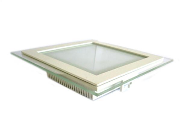 Faretto Led Da Incasso Quadrato 18W Bianco Caldo Con Vetro Moderno Design Illuminazione Bagno Soggiorno SKU-4746 - PZ