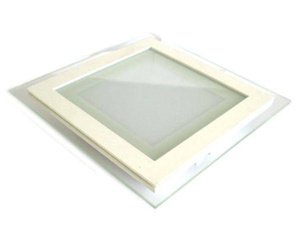 Faretto Led Da Incasso Quadrato 18W Bianco Freddo Con Vetro Stile Moderno Illuminazione Bagno Soggiorno SKU-4745 - PZ