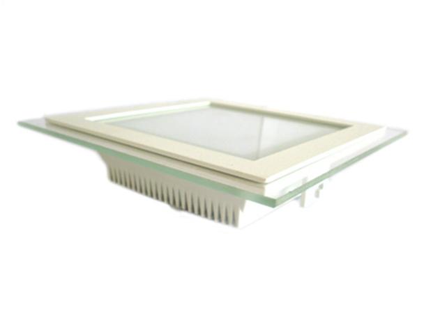Faretto Led Da Incasso Quadrato 18W Bianco Naturale Con Vetro Stile Moderno Illuminazione Bagno Soggiorno SKU-6280 - PZ