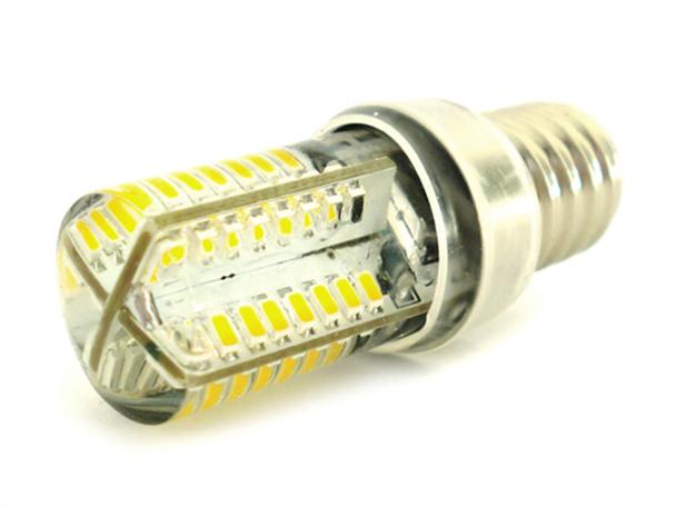 Lampada LED E14 Bianco Neutro Tubolare 3,5W=35W 360 Gradi Con Silicone Slim 64 SMD 3014 220V - PZ