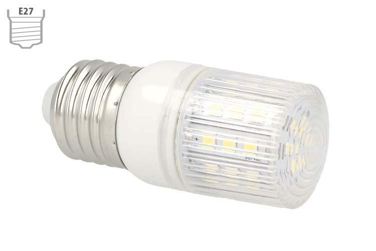 Lampada LED E27 12V 24V 4W Luce Caldo 30 SMD 2835 - PZ